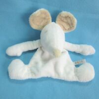 Mexx mouse white cream beige crinkle comforter doudou blankie baby soft toy