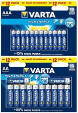 24 Varta High Energy Alkaline Batterien im 12er Blister (12x AA + 12x AAA)