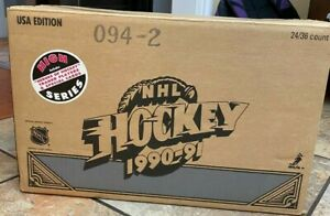 1990-91 Upper Deck Hockey High Series Factory Sealed Case (24 Boxes)