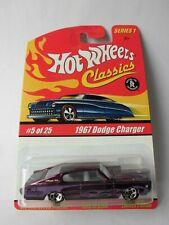Hot Wheels Classics Serie 1 - 1967 Dodge Charger lilametallic