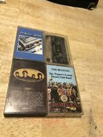 Lot Of 4 - The Beatles Cassette Tapes Sgt Pepper's Love Songs 1967-1970 Rock