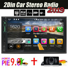 "7"" Android 9.0 IPS WiFi Double 2DIN Car Radio Stereo BT Player GPS Navi OBD2 CCD"