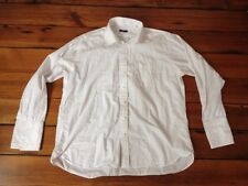 "Burberry London Mens White French Cuff 100% Cotton USA Dress Shirt 56"" Chest 17"