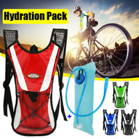 Hydration Pack + 2L Water Bladder Bag Outdoor Sport Backpack Hiking Camping US