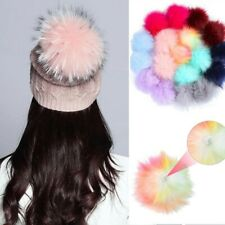18PC Soft DIY Faux Fur Fluffy Pompom Ball for Hats Shoes Scarves Keychains Decor