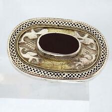 1793.XL Antiker Onyx Silberring 800 Silber 53 (16,8 mm Ø) Motivring,40 x 26 mm