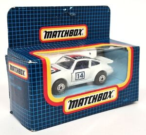 Matchbox MB3 - Porsche 911 Turbo Racing #14 White Boxed Diecast Model Toy Car
