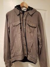 obey denim hooded jacket