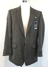 SADDLEBRED 100% Lambswool 2 Button Herringbone Blazer Jacket Sport Coat 42L NWT