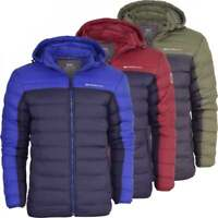 Crosshatch Mens Quilted Hood Puffer Jacket Bubble Coat with StayWarm Technology