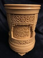 Antique Chinese Brush Pot Hand Carved Bamboo 6.25""