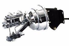 74-86 Jeep CJ Chrome Master Cylinder & Proportioning Valve & Booster Kit