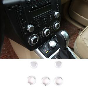 For Land Rover Freelander 2 2007-2012 Chrome Air Conditoin knob Trim Interior 5X