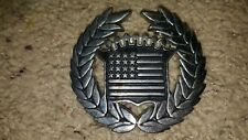 Famous Stars and Stripes American Dream Cadillac USA Flag Chrome Belt Buckle