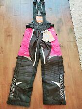 Nwt Arctiva Womens Snowmobile Pants Pink Comp 7 Womens Small Snow Bib 3131-0272