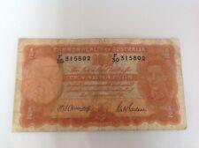 10 Australia Shillings banknote sig Armitage & Mcfarlane