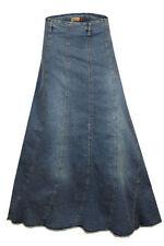 Denim Plus Size Maxi Skirts for Women