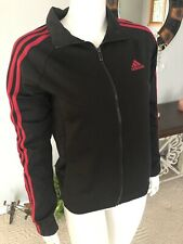 Adidas Ladies Jacket Size S Color Black/pink Brand New With Tags