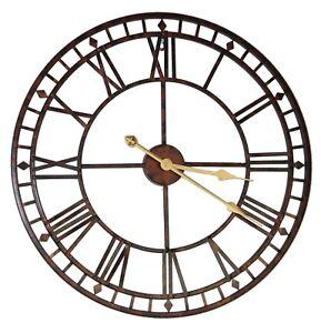 Retro 24inch Metal Wall Clock Home Decorative Elegant Decor House Warming Gift