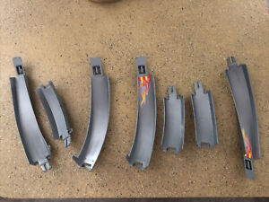 1996 Mattel Hot Wheels Track Replacement Part 16483-2049 Grey 7 Pieces