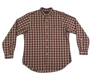 Polo Ralph Lauren Button Shirt Large Long Sleeve Red Plaid