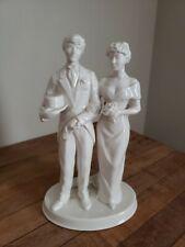 Porcelain Parian China Donegal Bride Groom Figure Wedding