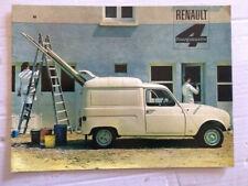 Brochure RENAULT 4 L fourgonette    - Prospectus French Prospekt  -CA112/48