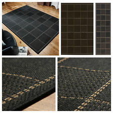 LARGE MODERN RUGS,ANTI-SLIP,FLATWEAVE CHECKED BLACK,DURABLE,ANY ROOM,BUY&SAVE...