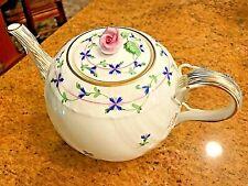 HEREND BLUE GARLAND TEA POT (1603/PBG)