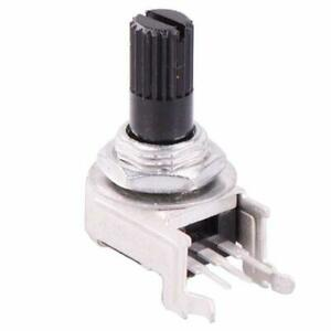 1K to 1M Linear 9mm Right Angle Potentiometer Knurled 6mm Shaft