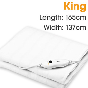 KING HEATED UNDER ELECTRIC BLANKET WITH 3 HEAT SETTINGS & UK PLUG 165 X 137 CM