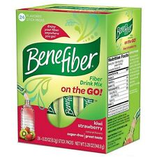 Benefiber Fiber Drink Mix On the Go! Stick Packs, Kiwi Strawberry 24 ea (7 pack)