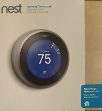 Nest Learning Thermostat 3rd Gen  - Smart Home T3007ES Stainless Steel. NEW!!!