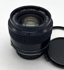 Minolta MC W. Rokkor SI 24mm f/2.8 Lens; Early version; Very Nice!