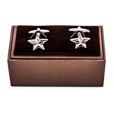 Star Gold Cufflinks Military General Wedding Fancy Gift Box Free Ship USA