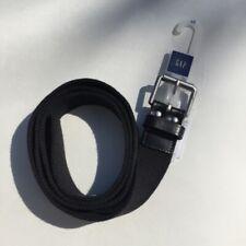 GAP Men's Belt Black Canvas & Leather Size 44