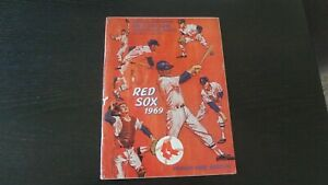 1969 BOSTON RED SOX OFFICIAL PROGRAM AND SCORE CARD  BOSTON VS. CLEVELAND