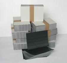 EINSTECKKARTEN STECKKARTEN ohne Folie A6 4 Streifen 500 Stück schwarzer Karton