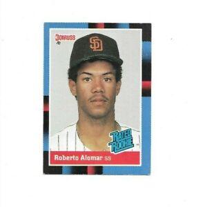 Roberto Alomar RC SD Padres MLB SS 1988 Donruss Rated Rookie Baseball Card 34