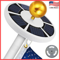 Solar Powered Flag Pole Light 42 LED USA Night Super Bright Flagpole Waterproof