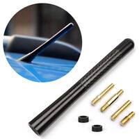 "12cm/4.7"" Car Top Aluminum Carbon Fiber Screw on AM/FM Radio Short Antenna Black"