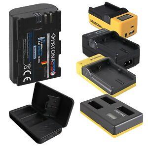 LP-E6NH Akku | für Canon LP-E6 LP-E6N | 2250mAh | Dual | Ladegerät | Patona SET