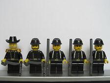 Lego WESTERN AMERICAN CIVIL WAR Black Union Soldiers Minifigs Cavalry