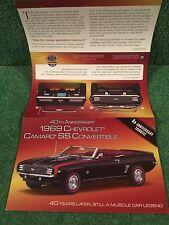 "Danbury Mint ""1969 Chevrolet Camaro SS Convertible.""  Brochure"