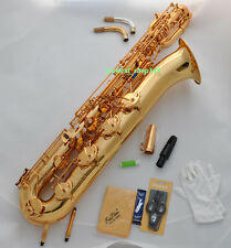 Professional TAISHAN 2 J Support Baritone Saxophone Gold Eb Sax with case mouth