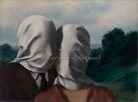"""RENE MAGRITTE Poster or Canvas Print """"The Lovers II (1928)"""" Sizes up to 32x40''"""