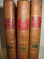 WILLIAM COXE VOYAGE EN SUISSE 1802 Ed. Anglaise GRISONS ZURICH ALPES VALAIS 3/3