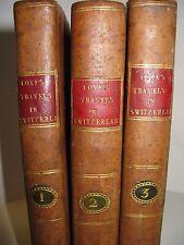 WILLIAM COXE VOYAGE EN SUISSE 1802 Ed. Anglaise GRISONS ZURICH ALPES VALAIS 3/3