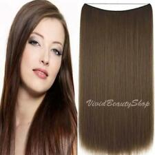 Halo Invisible Wire Flip No Clip In Remy Human Hair Extension Chestnut Brown #6