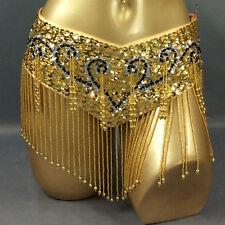 New Belly Dance Costume Hip Scarf Bellydance Wrap Tassel Belt Bellydancing Chain